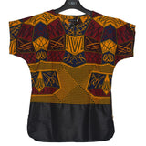 Mens African Batik Dashiki Shirt