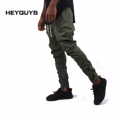Casual Skinny Zipper botton Sweatpants Solid Hip Hop high street Trousers