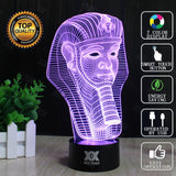 Pyramid Pharaoh 3D LED illusion Night Light Touch Switch 7Color Touch LED