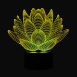 Lotus Flower 3D USB LED Night Light Colors Changing Christmas Lights Touch Button Kids Living Bedroom Lighting Lampen Luminarias