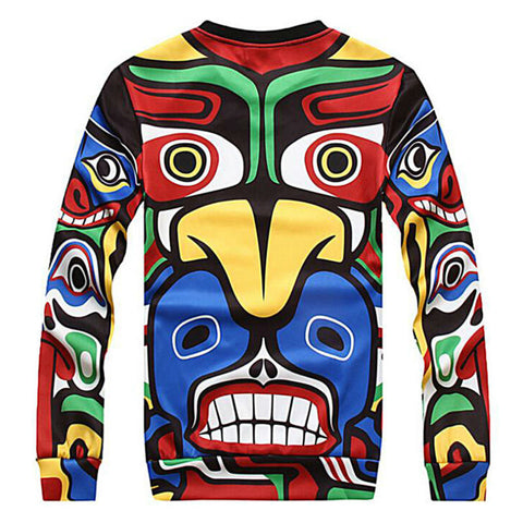 Maya Indian Totem Men Hoodies For Unisex Sweatshirts Suit Casual Pullover Hoody Thin Style O-Neck Long Sleeve Tops