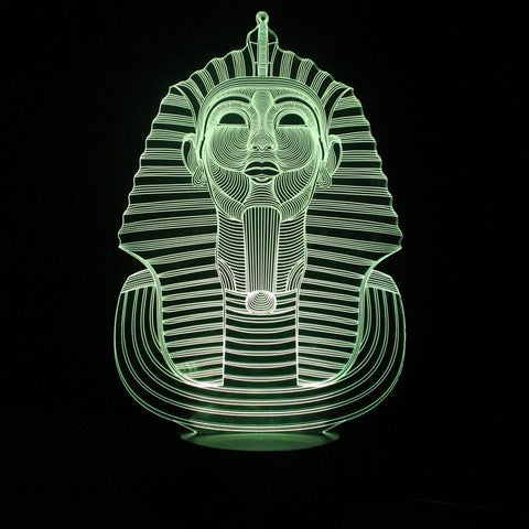 Mysterious 3D Abstract LED Night Lamp Pharaoh Shape with Touch Booton Table Lamp as Holiday Decoration