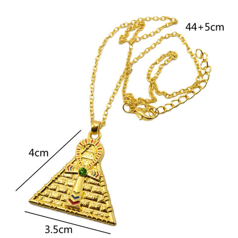 FREE Alloy Gold Silver Plated Egyptian Ankh Cross Pendant Necklace Men Women Unisex Jewelry