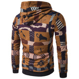 African characteristic national totem street hooded fleece jacket