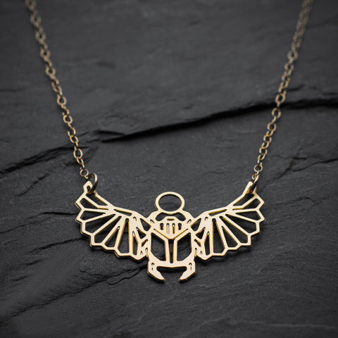 NianDi Beetle Necklace Egyptian Scarab Necklace
