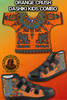 Image of ORANGE CRUSH DASHIKI SHOES #1 FOR KIDS COMBO