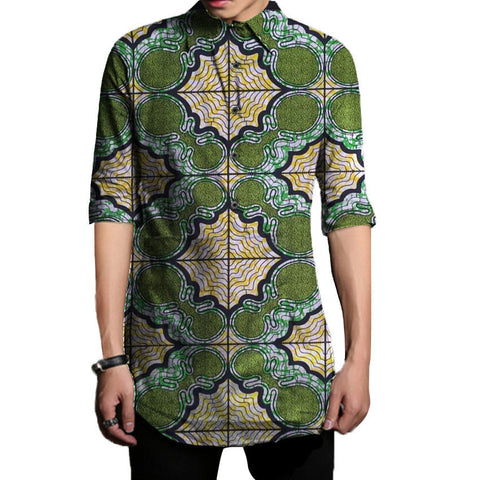 One-piece or small mass customization male african print africa dashiki top clothing