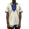 Image of Patchwork african printshirt men trending dashiki shirt
