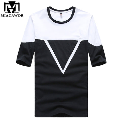 Plus Size 5XL 2016 New Summer Men Tshirts O-Neck Short-sleeve Tshirt