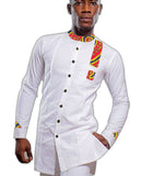 Private custom men fashion tops dashiki male african print shirt
