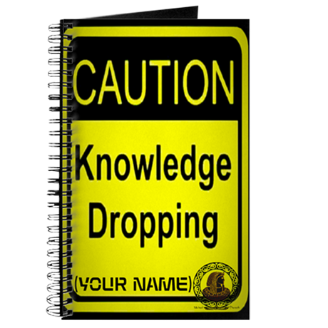 CAUTION KNOWLEDGE DROPPING NOTEBOOK