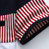 Summer Mens T shirts Fashion Striped Patchwork Clothing Swag