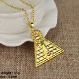 The Eye of Horus Gold necklaces & Pendants for men