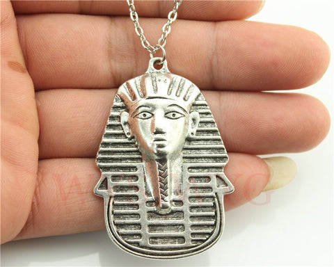 FREE silver tone 50*35mm egypt godness pendant necklace