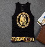 Egyptian Pharaoh picture HIPHOP loose cotton vest men's Tankt top