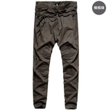 Harem Pants brand 2016 Casual Sagging pants men Trousers Drop Crotch Pant Men Joggers Feet pants hanging crotch