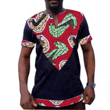 Mens african printed shirt patchwork short sleeve tops dashiki clothes africa clothing made to measure