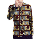 African print jacket thin slim fit mens fashion stand collar design dashiki coats of africa clothing