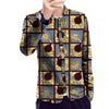 Image of African print jacket thin slim fit mens fashion stand collar design dashiki coats of africa clothing