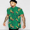 Image of Turn-down collar men dashiki shirts male traditional african cloth short sleeve professional