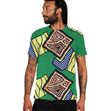 African print t shirt o-neck summer tops