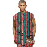 Trending print men african fashion shirt sleeveless dashiki shirts