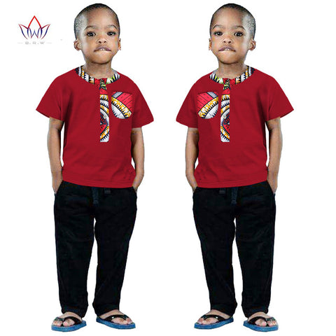 2017 African Clothing kids dashiki Traditional cotton shirt