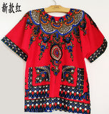 New fashion design african traditional print 100% cotton Dashiki T-shirt for male