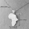 Image of 8 style /Africa map pendant necklaces