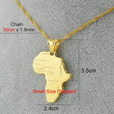 8 style /Africa map pendant necklaces