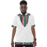 African print ankara shirts men dashiki summer Tshirts african stand collar tops