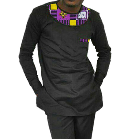 Summer dashiki shirt african print and patchwork men tops short sleeve africa clothing