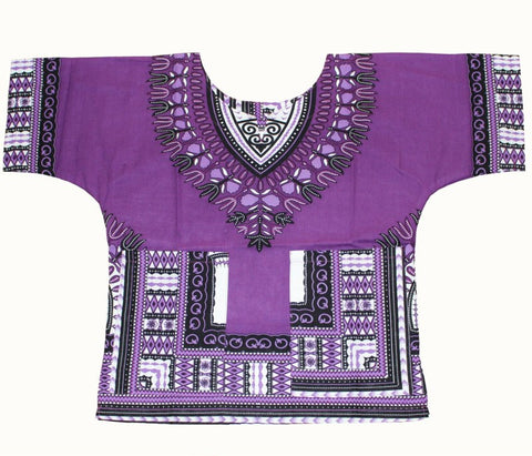 Child New Fashion Design Traditional African Clothing Print Dashiki T-shirt For Boys and Girls