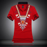 Cotton Blend Embroidery Print Men Brand Polo Shirts