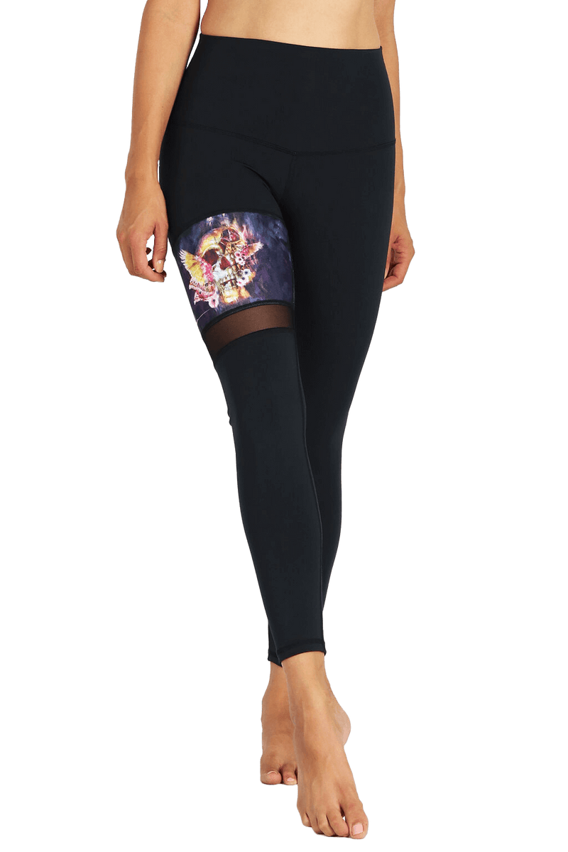 yoga Leggings by Yogavated Athletic Apparel Evolve Stripe Legging