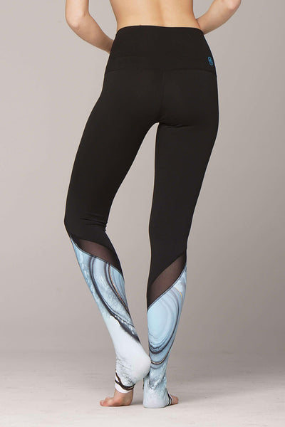 yoga Leggings by Yogavated Athletic Apparel Amazonite Luxe Legging