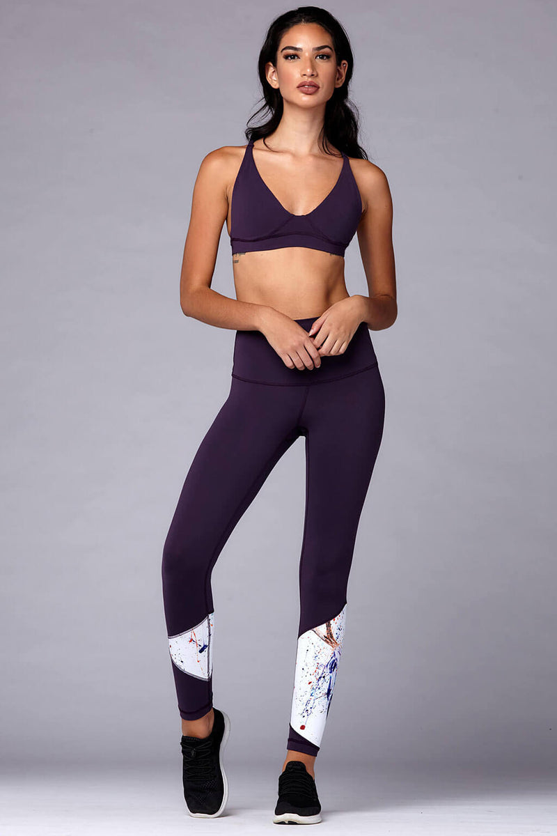 yoga Leggings by Yogavated Athletic Apparel Awaken Asym Legging