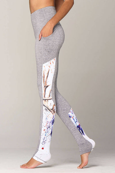 yoga Leggings by Yogavated Athletic Apparel Awaken Swoosh Legging