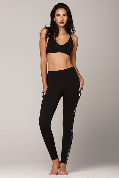 yoga Leggings by Yogavated Athletic Apparel Epidote Sections Legging