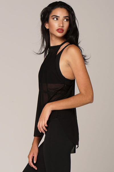 Muse Mesh Tank in Black