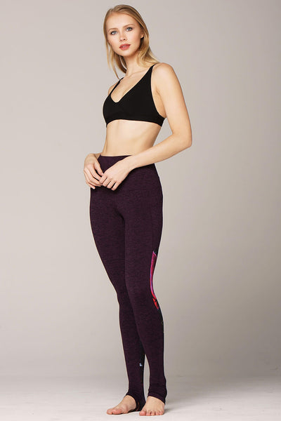 yoga Leggings by Yogavated Athletic Apparel Redemption Swoosh Legging