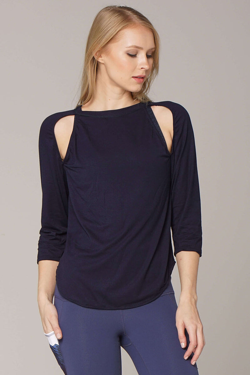 yoga Tops by Yogavated Athletic Apparel Summit B-Line Raglan
