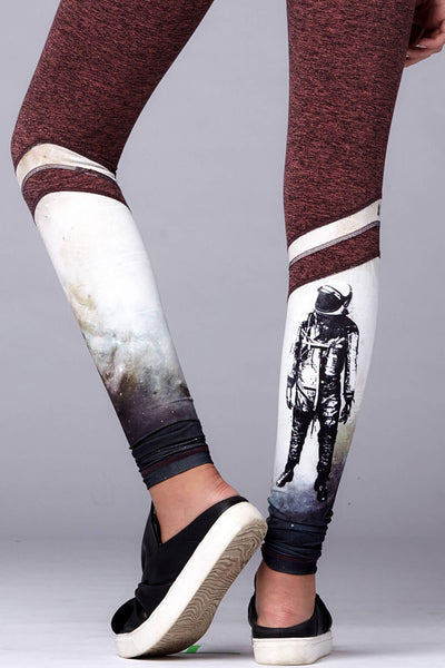yoga Leggings by Yogavated Athletic Apparel Voyager Rise Legging Astronaut