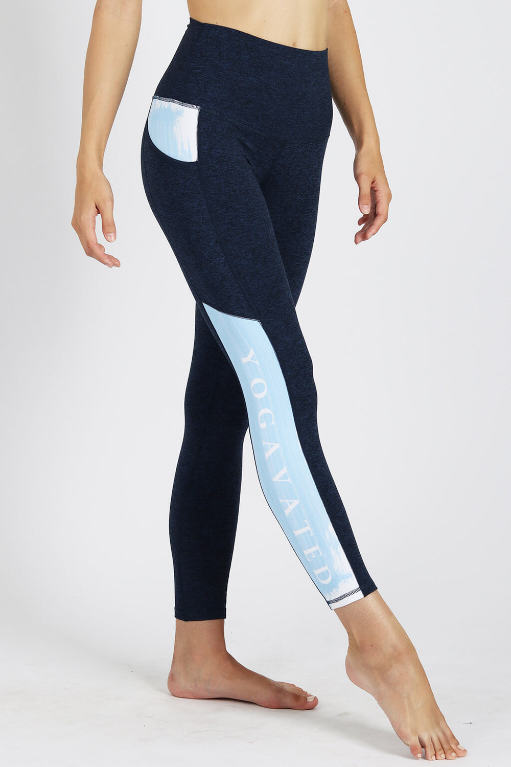 yoga Leggings by Yogavated Athletic Apparel Yogavated Stroke Legging