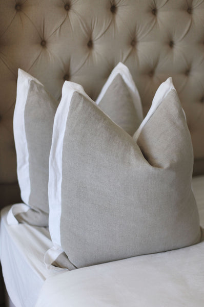 Ecru Polish Linen Scatter Cushion