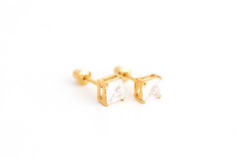 Gold Square Crystal