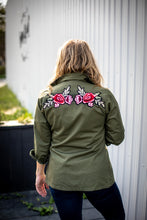 Pink/Red Rose Military Jacket