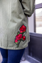Red Rose Military Jacket