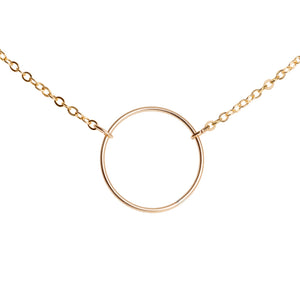 Gold Fill Circle Necklace