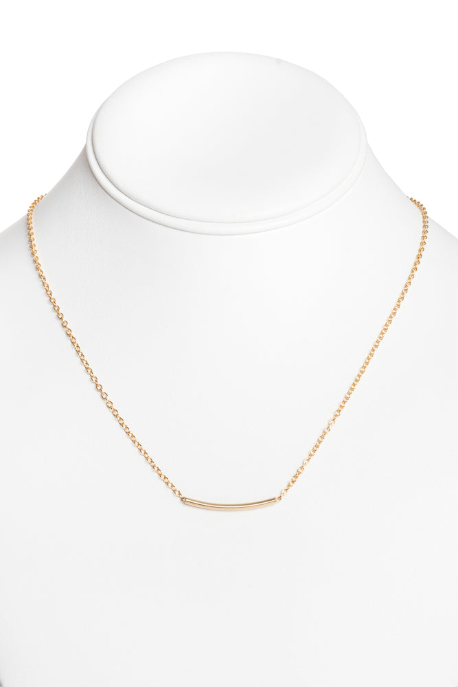 Solid Curved Bar Necklace